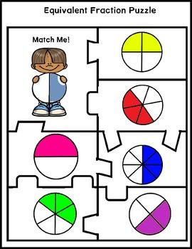 Match Me! Equivalent Fractions Visualization Activity