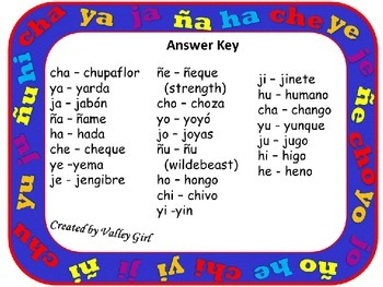 Match Mine: Syllables Ch, Y, J, H and Ñ