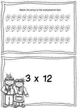 Thanksgiving Math Match My Array- Multiplication Activity