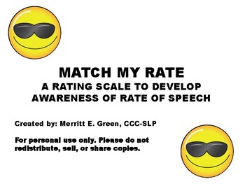 Match My Rate (Developing Awareness for Rate of Speech)