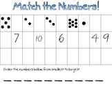Match Numbers to 10 to Dots