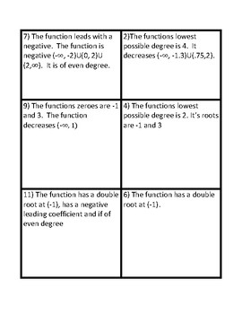 Match Polynomial Graph by description