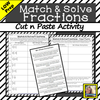 Match and Solve Fractions