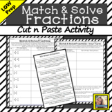 Fractions Cut and Paste Activity
