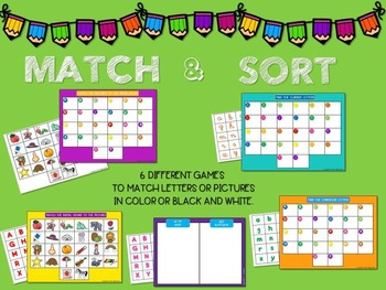 Match & Sort Letters and Pictures