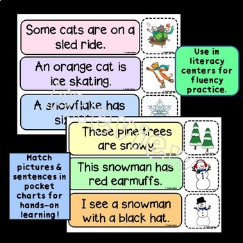 Match & Sort: Sentences with Pictures Winter Themed