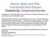 Match, Spell, Win: Coordinate Grid Shapes Game and Center