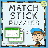 Match Stick Maths Problem Solving Task Cards – Grade 5 and