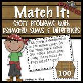 Match It! - Story problems with estimated sums & differences {Pirate Themed!}