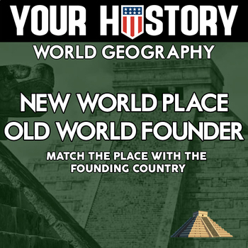 Founded By Who?  Match New World Place With Country