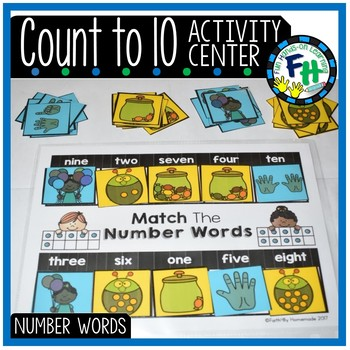Number Words to 10 Activity Center