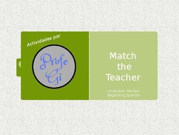 Match The Teacher - Vocabulary Review Game