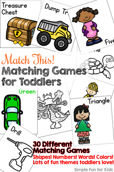Match This! Matching Games for Toddlers