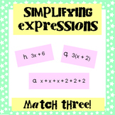 Simplifying Expressions: Match Three!