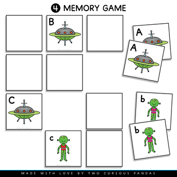 Match Up Alphabet - Alien & Spaceship (letter recognition)