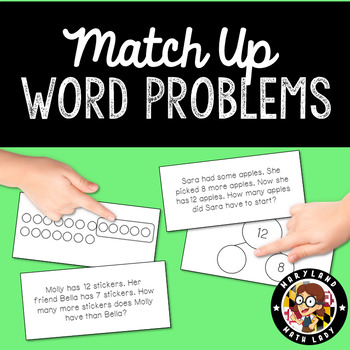 Match Up - Addition and Subtraction Word Problems