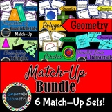 Match-Up Bundle; Circles, Lines, Angles, Polygons, Quadrilaterals; Geometry