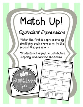 Match Up!  Equivalent Expressions