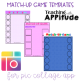 Match-Up Game Templates for the Pic Collage App