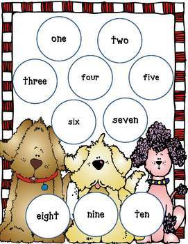 Match-Up Center Games for PreK, Kinder! (Shapes, Colors, Numbers)  Dog Theme