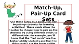Match Up, Pair Up Cards