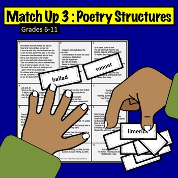 Match Up Printable Activity #3: Poetry Structures