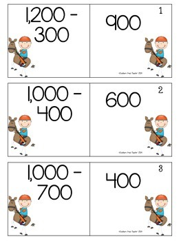 Subtraction Mental Math Facts Fun Match-Up Puzzles