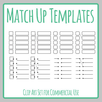 Match Up Templates - Match the ___ with the ____ Style Templates Clip Art Set
