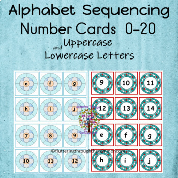 Alphabet Sequencing and Matching Cards 2 Sets with Number Cards 0-20