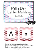 Match Upper to Lower Case Letters with Polka Dot Frames -