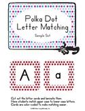 Match Upper to Lower Case Letters with Polka Dot Frames - Sample Set