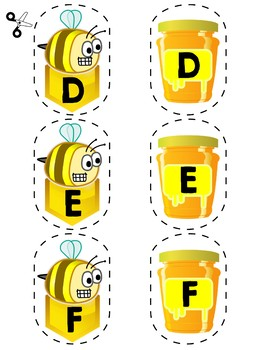 Match Uppercase Letters | Bees & Honey