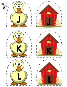 Match Uppercase Letters | Ducks & Barns