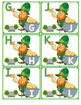 Match Uppercase Letters   St. Patrick's Day Leprechauns