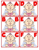 Match Uppercase Letters | Valentine's Day Baby Cupid