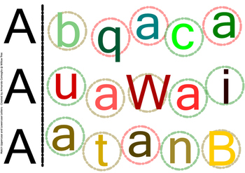 Letter A - Match Uppercase and Lowercase