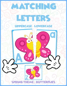 Match Uppercase to Lowercase Letters | Butterflies