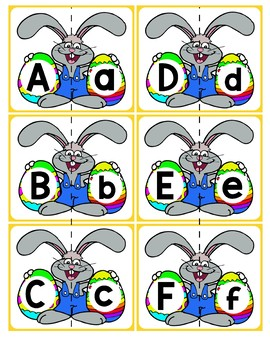 Match Uppercase to Lowercase Letters | Easter Bunnies