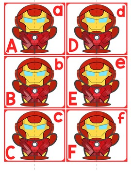 Match Uppercase to Lowercase Letters | Iron Man