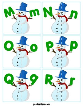 Match Uppercase to Lowercase Letters | Snowmen