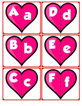 Match Uppercase to Lowercase Letters | Valentine's Day