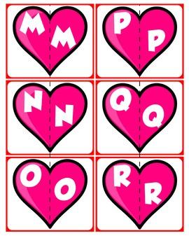 Match Uppercase to Uppercase Letters | Valentine's Day
