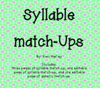 Match-Ups {Compound, Contractions, Plurals, Syllables, & Syn. & Ant. Bundled}