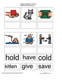 Match Word to Picture - Reading Mastery K Lessons 100-120