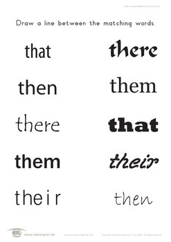 Match Words-Different Fonts (2)