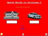 Match Words to Pictures 1 Early Reader Activity A Pinkley Product