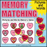 Match Words to Pictures Memory Game