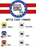 Write Colors Names