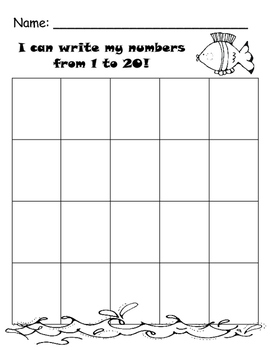 Match, Write, or Sequence Numbers 1-20 Bundle
