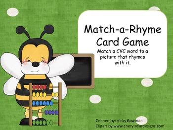 Match-a-Rhyme Card Game